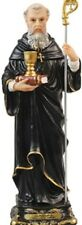 SAINT BENEDICT 130mm RESIN STATUE - CRUCIFIXES CANDLES PICTURES ALSO LISTED 952