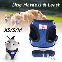 Verstellbar Reflektierend Haustier Hundegeschirr Leine Hund-Katze Top Kragen Set