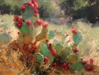 Art Print Western Cactus Landscape Oil painting Picture Printed on canvas P198