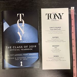 2019 TONY AWARDS Nominee-Only Luncheon YEARBOOK & Menu! 73rd Tonys! ALI STROKER+