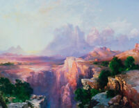 Rock Towers Of The Rio Virgin Thomas Moran Fine Art Print on Canvas Giclee Small