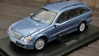 DEALER 1:18 MERCEDES BENZ W 211 TE E CLASS ESTATE BLUE RARE TOY COLLECTIBLE CAR