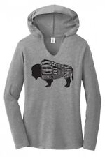 Buffalo Lover Funny Ladies Hoodie T-Shirt Meat Eater Food Humor Graphic Tee