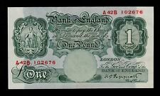 P.M23 #1234//4 1948 Great Britain bundle with 100 banknotes 5 Pounds BAF ND