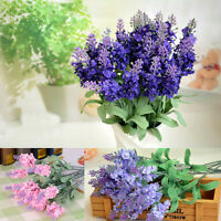 New 10 Heads Artifical Lavender Flowers Fabric Bouquet Wedding Home Decor Gift