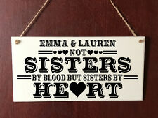 Personalised Deluxe Plaque Sister Best Friend Sisters by Heart Friends Present