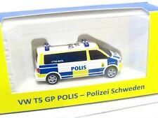 Rietze 1/87 VW T5 GP Polis Polizei Schweden OVP (KV2625)