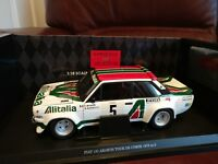 KYOSHO FIAT 131 ABARTH #5 1978 TOUR DE CORSE ALITALIA CAR MUNARI / MANNUCCI 1/18