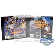 100 X Playstation jeu PS1 Boîte de Protection Solide 0.5 mm en plastique Pet Display Case
