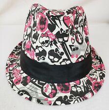 Monster High Hat Fedora Pink Black White Gray Skeletons One Size 8081-C015