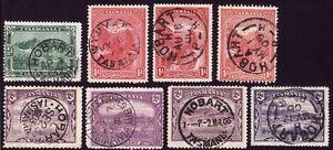 /TASMANIA small duplicated lot postmark interest @E1486