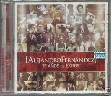CD + DVD ALEJANDRO FERNANDEZ 15 AÑOS DE EXITOS NEW 2007