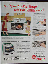 1951 General Electric Speed Cooking Ranges 2 Separate Ovens Advertisement