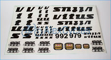 VITUS 992 979 Black Restoration Decals Kit Campagnolo + 17 Gift Stickers Set
