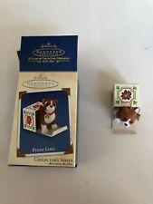 Hallmark Keepsake Ornament Puppy Love Collector's Series Handcrafted & Brass 13
