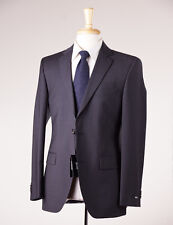 NWT $895 HUGO BOSS Charcoal Gray Fine-Stripe Wool Suit 40 R 'Grand/Central'