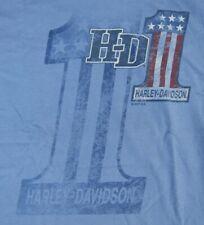 Dudley Perkins Co. Harley-Davidson Blue #1 T-Shirt ***BRAND NEW***