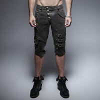 Punk Rave Men's Gothic Steampunk Post Apocalyptic Rock Dieselpunk Shorts