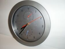 """Vintage Helio 10"""" Weather Station Wall Clock Showing Temperature & Humidity"""