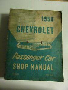 SHOP MANUAL USA MANUEL ATELIER CHEVROLET 1958 en anglais