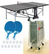 Tischtennisplatte outdoor SPONETA S 5-70 e grau im Set mit Hülle u Schlägerset