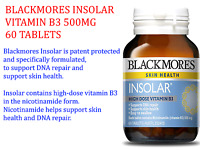 BLACKMORES INSOLAR VITAMIN B3 500MG 60 TABLETS * FREE POST