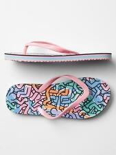 Gap Junk Food Keith Haring Flip Flops Slippers Girls sizes 10-11  &  1-2 nwt