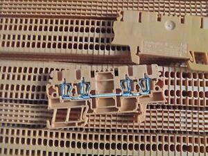 ZDU 1,5/4AN OR Weidmüller Durchgangsklemmen orange Reihenklemmen Zugfederklemme