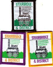 Boy Scout Badges single STOURBRIDGE & District brown+purple+yellow O/L