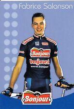 CYCLISME carte cycliste FABRICE SALONSON équipe BONJOUR.fr 2002
