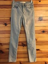 *ABERCROMBIE & FITCH* Women's Juniors Pearl & Rhinestone Jeans Size 2  W 26