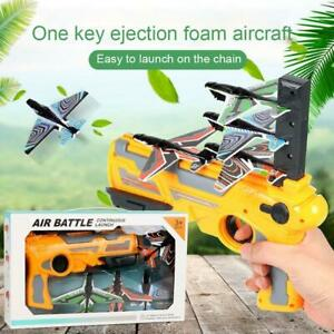 Foam Catapult Airplane Children Outdoor Toy Bubble Catapult Plane Toy Sale