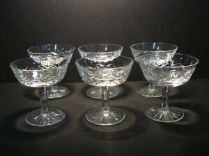 Set of 6 ~ Waterford ~ Lismore ~ Champagne / Tall Sherbets ~ Gothic Mark
