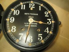 Seth Thomas U.S. Maritime Commission Ships Bell Clock