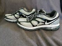 Nike Air Max+ 2012 Wolf Grey / White-Black Running Shoes Size 10  487982-010