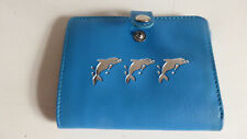 Blue Wallet Credit Card Holder Gift Idea Stocking Filler