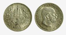 pcc2128_95)  Franz Joseph I 1 Korona 1915 AG Toned