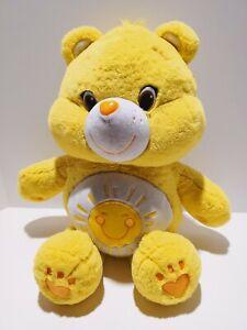 "Rare Care Bear Yellow Funshine Sunshine 2003 20"" Plush Stuffed Animal Bears"