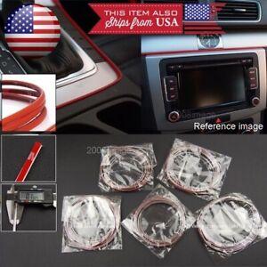 5 x 9' Chrome Molding Stripe Trim Line For Mazda Subaru Console Dashboard Grill