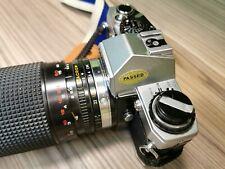 OLYMPUS OM10 WHIT SIRIUS MC AUTO ZOOM 28-200mm f/4-5.6 zoom lens
