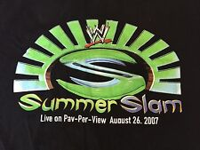 WWE Summerslam 2007 T-Shirt XL John Cena Logo Randy Orton CM Punk Great Khali