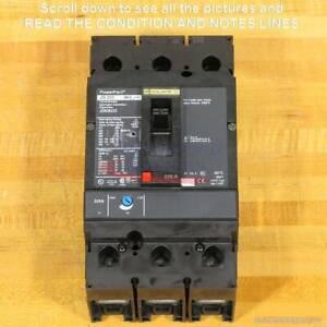 Square D JDL36225 & JDP36225 Breakers, 225 Amp, 600 Volt, Used