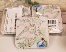 Puget Sound Map Nautical Non Slip Rubber Soft Coaster Set Of 8
