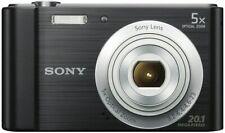 "Sony CyberShot DSC-W800 Compact Camera, HD 720p, 20.1MP, 2.7"" Screen, Black"