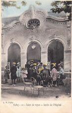 Carte postale ancienne ALLIER VICHY 10 salon de repos jardin de l'hôpital