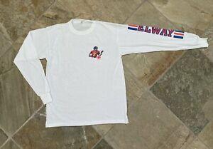 Vintage Denver Broncos John Elway Football Tshirt, Size XL