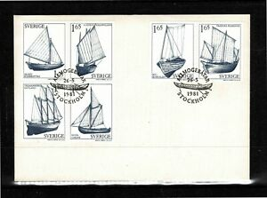 Sweden 1981 Country Sailing Boats FDC - Complete Set Of Six Stamps - Mint