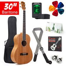 Kmise Baritone Ukulele Mahogany Ukelele Uke 4 String 30 Inch Guitar Kit Gig Bag
