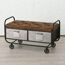 Brilliant Bank Two Seater Bench Harper Wagon Sofa Dresser Braun Silver Metal