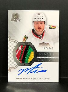 2016-17 UD The Cup Mark McNeill RPA RC Rookie 5-Color Logo Patch AUTO 177/249